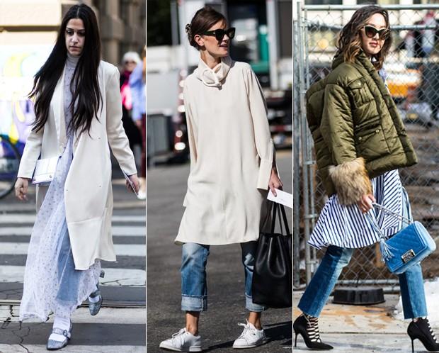 Vestido com calça: você usaria? (Foto: Reprodução / Pinterest)
