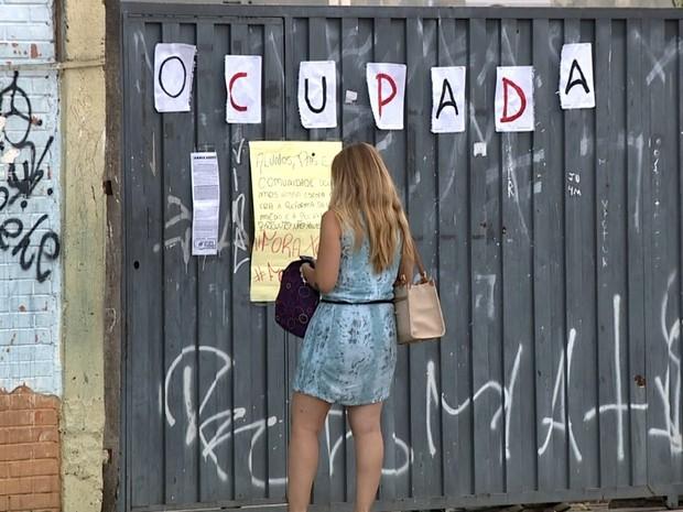 Escola Estadual Ruy Rodriguez, em Campinas, foi ocupada por estudantes nesta segunda-feira (Foto: Reprodução / EPTV)
