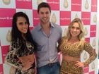 Ex-BBBs Renatinha e Jonas se reencontram em evento