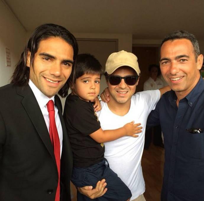 Felipe Massa tieta Falcao e Djorkaeff (Foto: Reprodução)