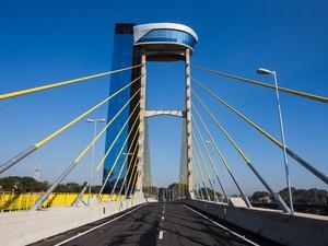 Ponte foi inaugurada nesta quinta-feira  (Foto: Eduardo Saraiva/Divulgação)