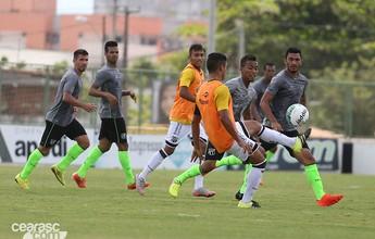 Sérgio Soares esboça equipe titular para sábado com Raul pelo meio