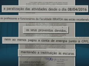 Ibrafem fecha as portas em Rio das Pedras por falta de pagamento (Foto: Reprodução/EPTV)