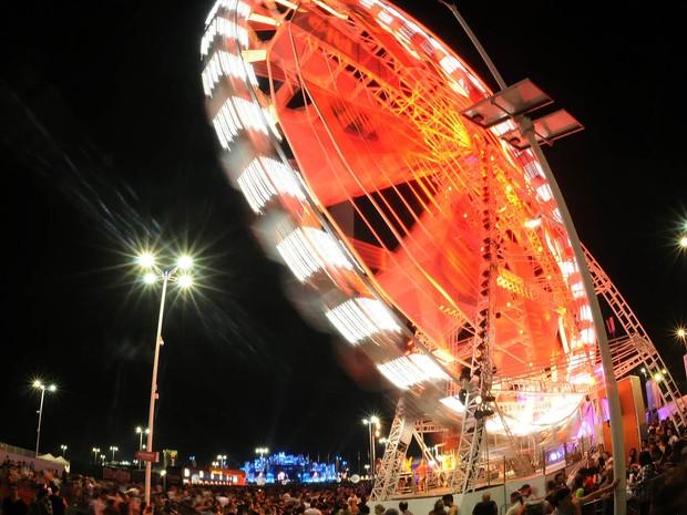 Roda gigante do Rock in Rio (Foto: Alexandre Durão/G1)