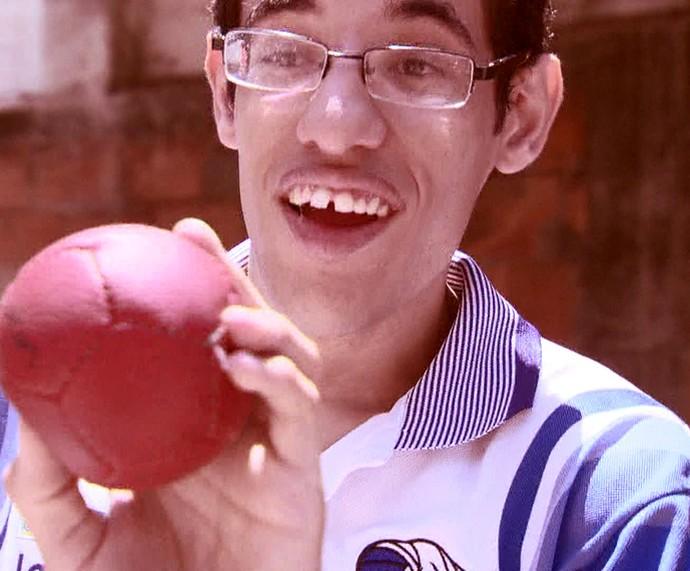 Lucas Araújo está concentrado para as Paralimpíadas (Foto: TV Globo)