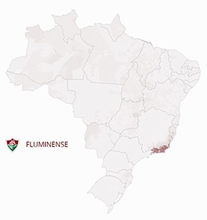 Mapa Fluminense (Foto: GloboEsporte.com)