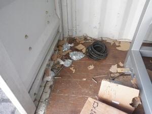 Contêiner onde cadela foi encontrada (Foto: Divulgação / Receita Federal)