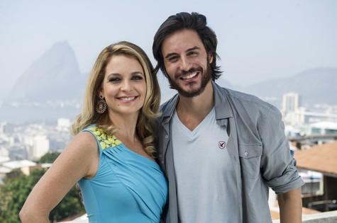 Claúdia Abreu e Ricardo Tozzi (Foto: TV Globo)