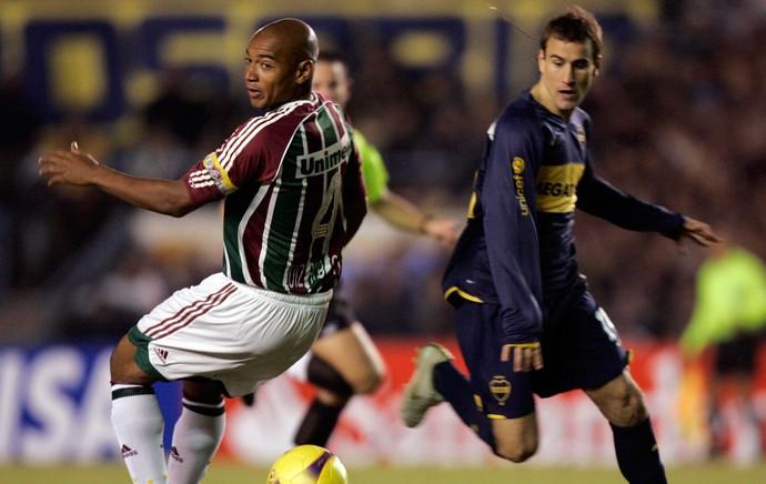 Luiz Alberto, Fluminense x Boca Juniors, Libertadores 2008 (Foto: Reuters)