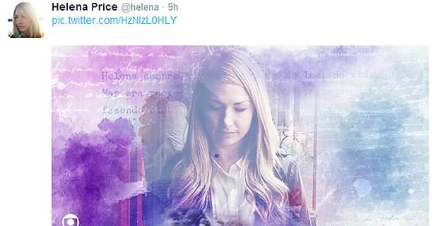 HELENA PRICE VIROU MEME NA INTERNET (Foto: Reprodução / Twitter)