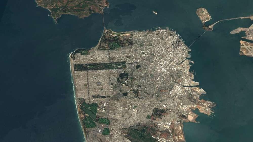 São Francisco, nos Estados Unidos (Foto: EOX/ Reprodução)