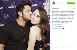 Adriana lamenta morte de Cristiano Araújo (Foto: Reprodução)