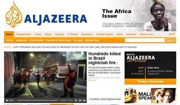 'Centenas de mortos em incêndio em casa noturna' afirma a emissora (Foto: Reprodução)