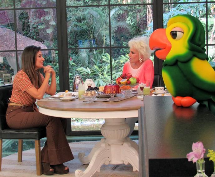 Patrícia Poeta toma café da manhã com Ana Maria (Foto: Carolina Morgado/Gshow)