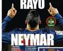 """Imprensa espanhola destaca Neymar contra """"vítima predileta"""" no Espanhol"""