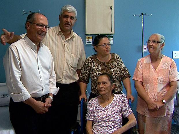 Alckmin entregou 42 leitos de cuidados prolongados em Pedregulho e Ipuã (Foto: Márcio Meireles/EPTV)