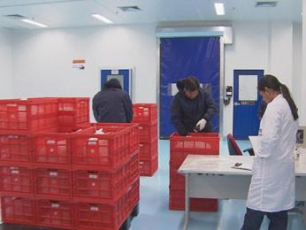 Módulo inaugurado recebe, tria e armazena o plasma vindo de todo o Brasil (Foto: Reprodução/ TV Globo)