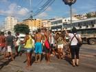 Manifestação deixa trânsito lento na região da Sete Portas, em Salvador