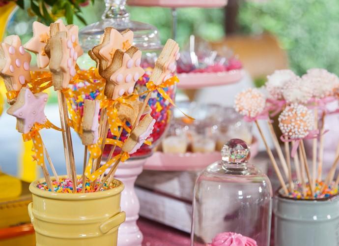 Veja parte da decoração da festa de Angélica (Foto: Arthur Meninea / Gshow)