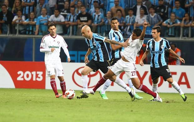 cris marco antonio grêmio fluminense arena libertadores (Foto: Lucas Uebel/Grêmio FBPA)