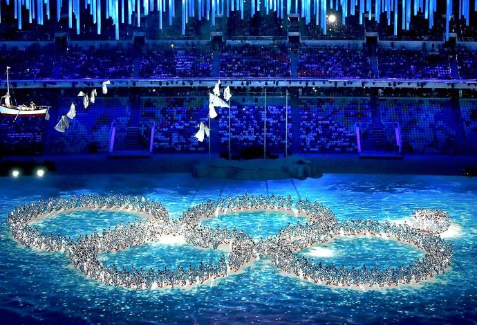 cerimônia encerramento Sochi anéis (Foto: Reuters)