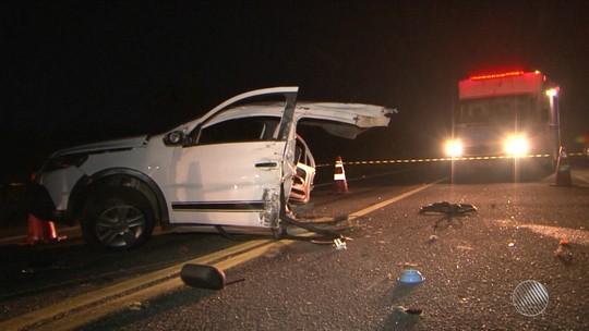 Acidente na BR-116 matou bebê e 2 parentes na BA; carro partiu ao meio