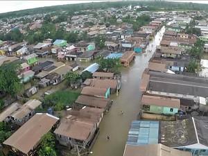 Boca do Acre foi o primeiro município a decretar estado de calamidade pública em 2015 (Foto: Reprodção/TV Amazonas)