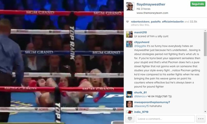 boxe quedas manny pacquiao video floyd mayweather (Foto: Reprodução / Instagram)