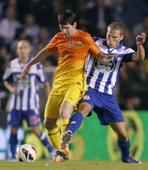 Messi Barcelona x La Coruna (Foto: EFE)