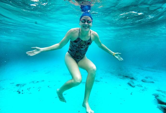 Carol Bilich, maratona aquática e natação (Foto: Orlando Bento / Minas TC)
