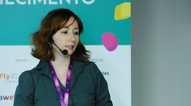 Carine Roos, fundadora da Upwit, faz palestra no Festival de Cultura Empreendedora (Foto: Rafael Jota/Editora Globo)