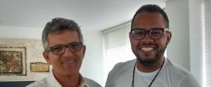 Jovem empreendedor visita Inter TV Cabugi e realiza sonho de conhecer Jussier Ramalho (Andréa Luiza Tavares)