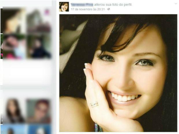 Corpo da jovem de 22 anos, que se formaria em odontologia em janeiro, foi sepultado na manh� deste domingo (30) (Foto: Reprodu��o)
