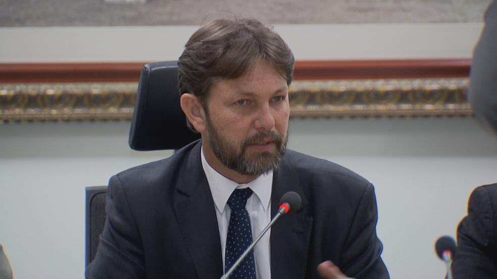 O novo presidente da Câmara Legislativa, Joe Valle (PDT) (Foto: TV Globo/Reprodução)