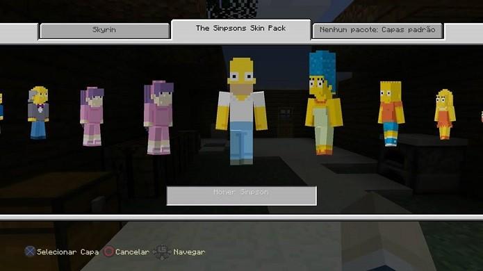 Minecraft: Como usar as skin de Os Simpsons (Foto: Reprodução/Emanuel Schimidt)