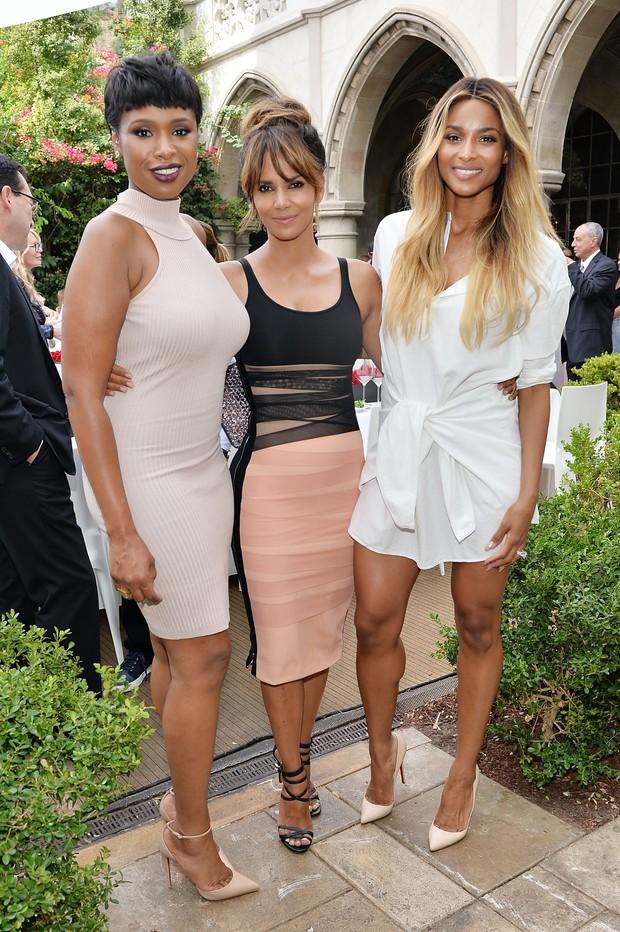 Jennifer Hudson, Halle Berry e Ciara em evento em Los Angeles, nos Estados Unidos (Foto: Stefanie Keenan/ Getty Images)