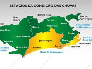 Zona Sul e regiões da Zona Oeste estão em estágio de atenção (Foto: Divulgação / Centro Operações Rio)