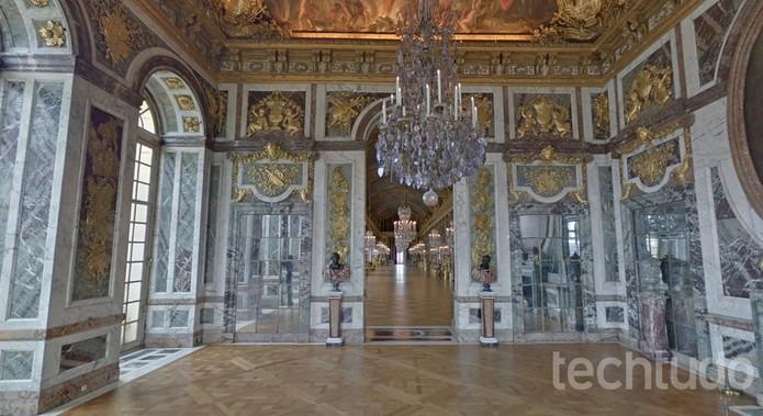 Palácio de Versalhes é um dos destaques no Google Street View (Foto: Reprodução/Barbara Mannara)