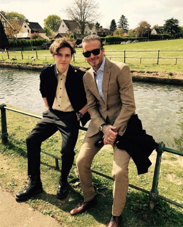 Brooklyn Beckham e David Beckham (Foto: Instagram)