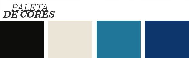 Décor do dia: sala de estar geométrica feita em branco e azul  (Foto: Mark Roskams/ Divulgação)