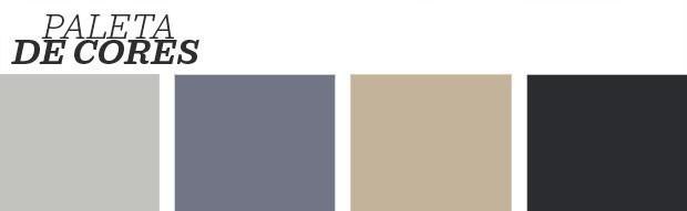 Décor do dia: home office cosmopolita em preto, branco e azul (Foto: Divulgação)