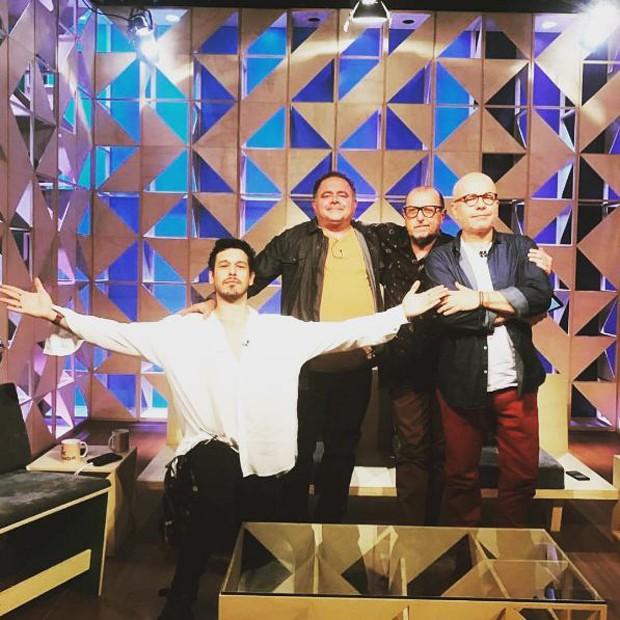 João Vicente Castro, Marcelo tas, Chico Sá e Léo Jaime (Foto: Reprodução/Instagram)