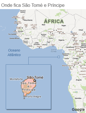 Mapa São Tomé e Príncipe (Foto: Infoesporte)
