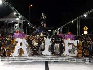 Escolas de samba de Sorocaba agitam sambódromo na primeira noite - Carnaval - Gaviões da Fiel (Foto: Eduardo Ribeiro Jr./G1)