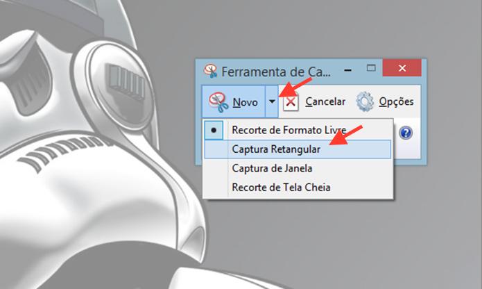 Acessando a ferramenta de captura retangular do Windows (Foto: Reprodução/Marvin Costa)