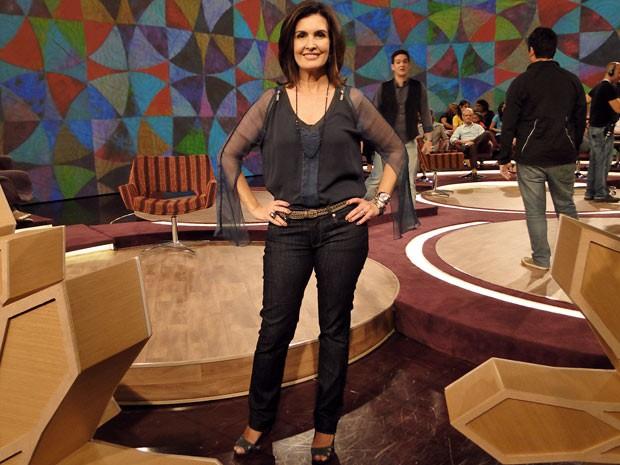 Fátima Bernardes vai aparecer com estilo mais casual durante as sextas-feiras (Foto: Encontro com Fátima Bernardes/TV Globo)