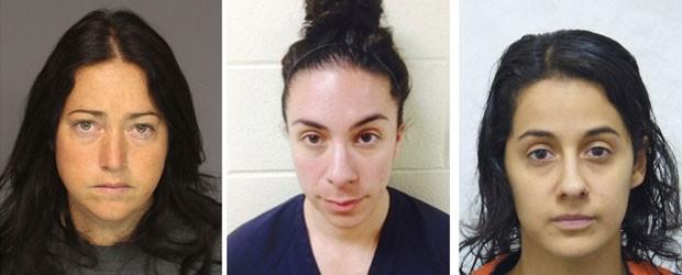Nicole Dufault, Erica Ann Ginnetti e Kathryn Ronk foram acusadas de terem relações sexuais com seus alunos nos EUA (Foto: Reuteres)