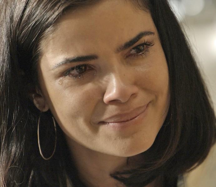 Tóia se emociona ao conversar com Juliano (Foto: TV Globo)