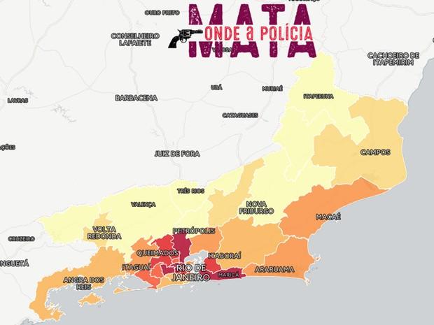 G1 Mapa Onde A Policia Mata No Rj Ve Relacao Da Letalidade Com