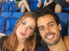Marina Ruy Barbosa vai ao Parque Olímpico com o noivo